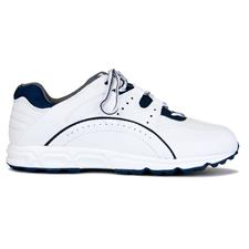 FootJoy White-Navy Golf Specialty Spikeless Previous Season Golf Shoe