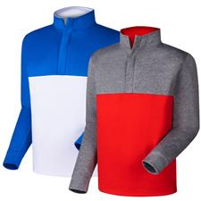 FootJoy Men's Prev. Season Jersey Knit Colorblock Pullover