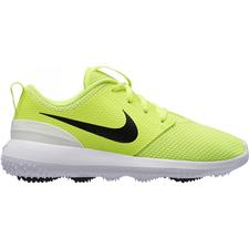 Nike Volt-Black-White Roshe G Junior Golf Shoes