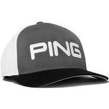 PING Men's Structured Adjustable Personalized Hat - Black-Slate