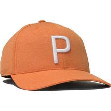 Puma Men's P 110 Snapback Personalized Hat - Vibrant Orange-Bright White
