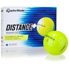 Taylor Made Custom Logo Distance+ Yellow Golf Balls