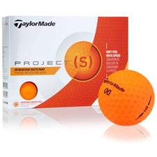 Taylor Made Project (s) Matte Orange Personalized Golf Balls