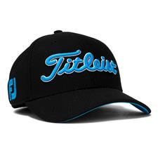 Titleist Men's Dobby Tech Hat - Black-Blue - Large/X-Large