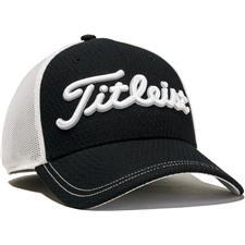 Titleist Men's Stretch Tech Hat - Black-White - Medium/Large