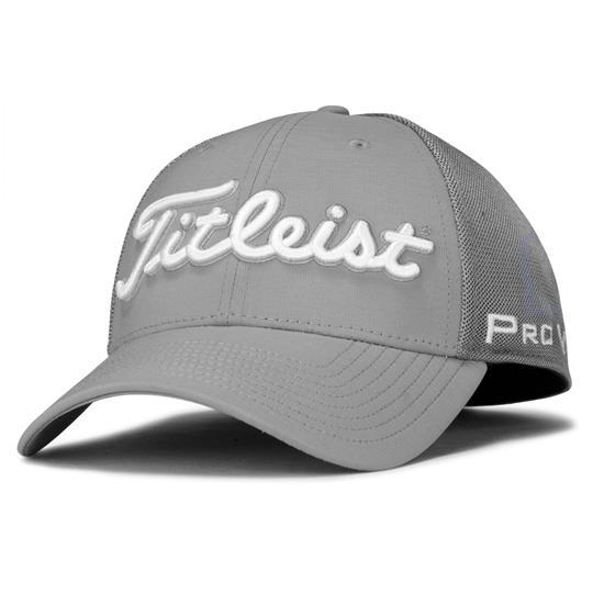 0df859acef8 Titleist Men s Tour Sports Mesh Hat - Grey-White - Medium Large ...