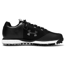 Under Armour Black-Steel-Metallic Gunmetal UA Fade RST Golf Shoes