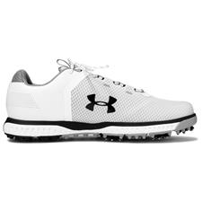 Under Armour White-Steel-Black UA Fade RST Golf Shoes