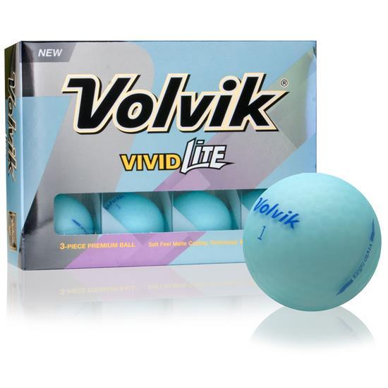 Volvik Vivid Lite Blue Golf Balls