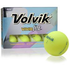 Volvik Vivid Lite Yellow Personalized Golf Balls