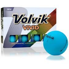 Volvik Vivid Matte Blue Custom Logo Golf Balls
