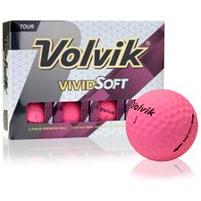 Volvik Vivid Soft Pink Personalized Golf Balls