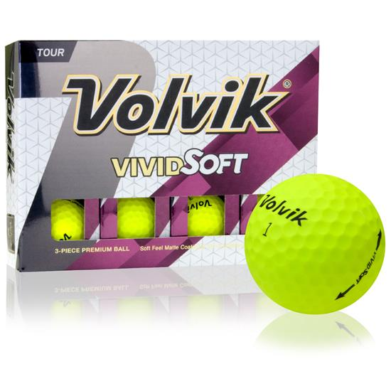 Volvik Vivid Soft Yellow Golf Balls