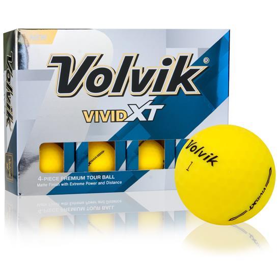 Volvik Vivid XT Matte Yellow Golf Balls