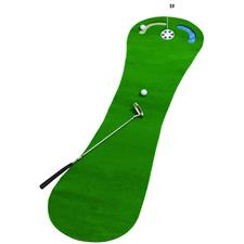 World of Golf 2 x 9 Putting Mat with Hazards