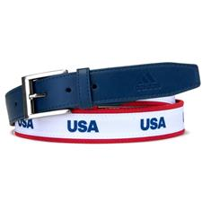 Adidas USA Woven Web Belt - Mineral Blue - One Size Fits Most