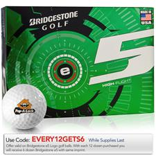 Bridgestone e5 Custom Express Logo Golf Balls