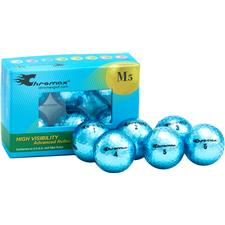 Chromax Metallic Blue Personalized M5 Golf Balls - 6-Pack
