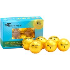 Chromax Metallic Gold ID-Align M5 Golf Balls - 6-Pack