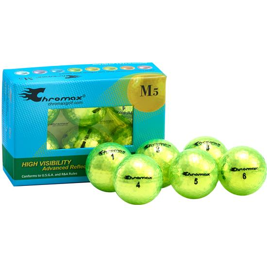 Chromax Metallic Green M5 Golf Balls - 6-Pack