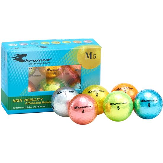 Chromax Metallic Mixed Color M5 Golf Balls - 6-Pack