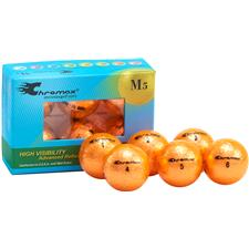 Chromax Metallic Orange Personalized M5 Golf Balls - 6-Pack