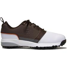 FootJoy White-Brown ContourFIT Previous Season Style Golf Shoe