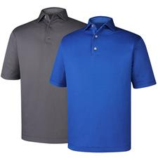 FootJoy Men's Dot Geo Jacquard Self Collar Polo