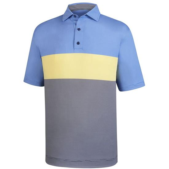 FootJoy Men's Engineered End on End Stripe Self Collar Polo