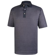 FootJoy Men's Lisle Paisley Print Self Collar Polo