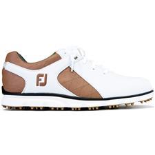 FootJoy White-Taupe-Gold Pro/SL Previous Season Style Golf Shoes