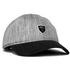 Nike Men's Dri-FIT Heritage 86 Golf Personalized Hat - Charcoal Heather-Charcoal Heather-Black