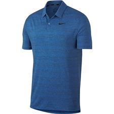 Nike Royal Tint-Gym Blue-Black-Black Dry Heather Texture Polo