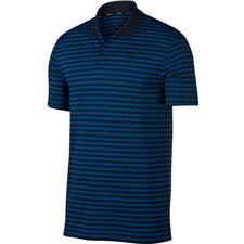 Nike Gym Blue-Obsidian-Black Dry Victory Stripe Polo