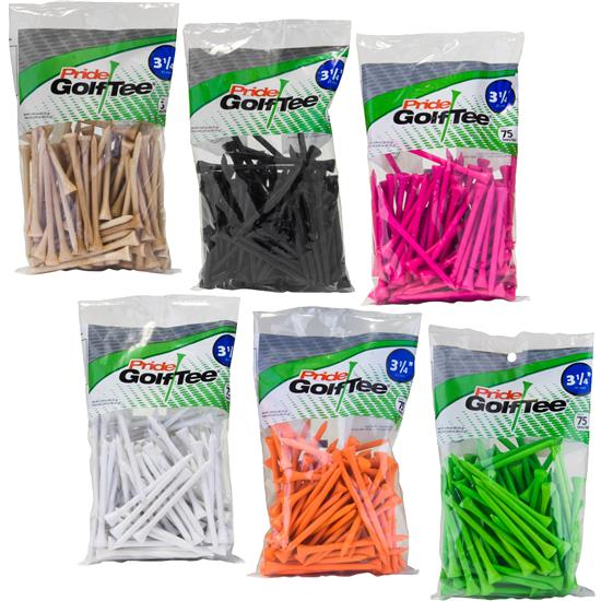 Pride Sports Deluxe 3-1/4 Inch Tees - 75 Count
