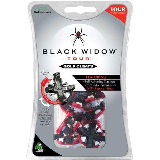 Softspikes Black Widow Tour Golf Spikes - Fast Twist