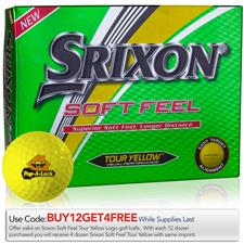 Srixon Custom Logo Soft Feel Yellow Golf Balls - 2019 Model