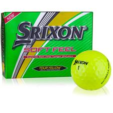 Srixon Soft Feel Yellow Monogram Golf Balls