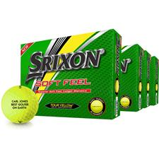 Srixon Soft Feel Yellow Personalized Golf Balls - Buy 3 Get 1 Free