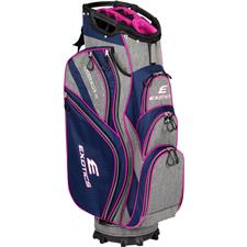 Tour Edge Exotics Extreme 4 Cart Bag for Women - Navy-Scratch Plaid-Pink
