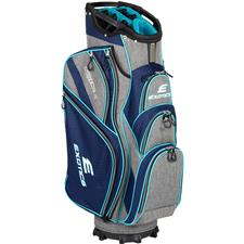Tour Edge Exotics Extreme 4 Cart Bag for Women - Navy-Scratch Plaid-Teal