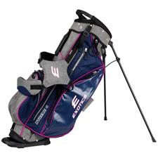 Tour Edge Exotics Xtreme 4 Stand Bag for Women - Navy-Scratch Plaid-Pink