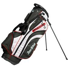 Tour Edge Hot Launch 3 Stand Bag - Black-Silver-Red