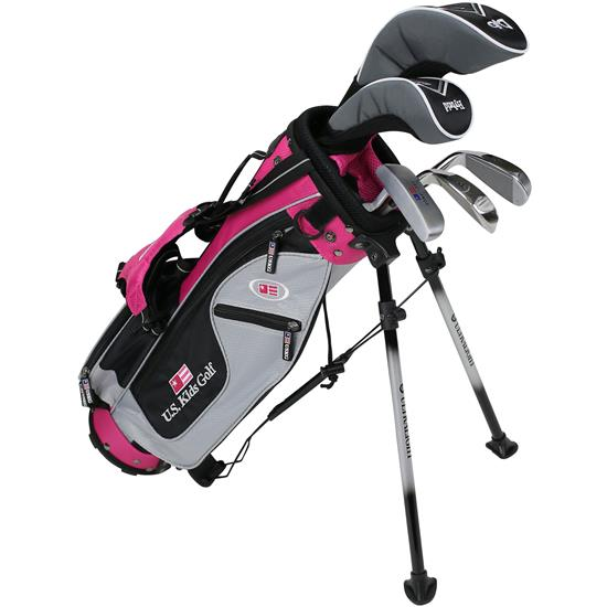 U.S. Kids Ultralight 42 Inch 5-Club DV2 Stand Bag Set
