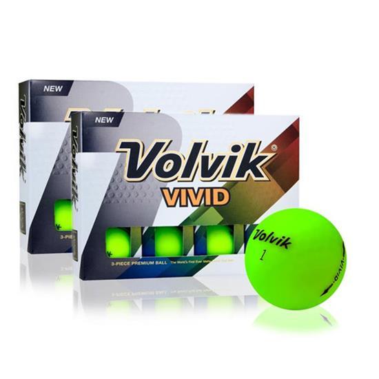 Volvik Vivid Matte Green Golf Balls - Double Dozen