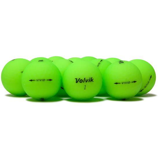 Volvik Vivid Matte Green Golf Balls