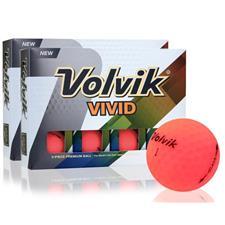 Volvik Vivid Matte Pink Golf Balls - Double Dozen