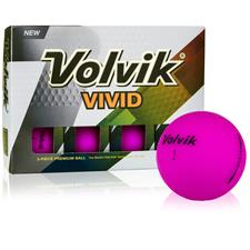Volvik Vivid Matte Purple Golf Balls