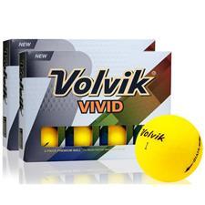 Volvik Vivid Matte Yellow Golf Balls - Double Dozen