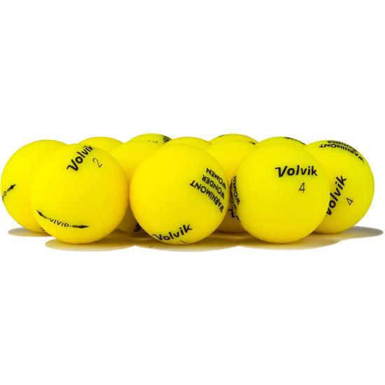 Volvik Vivid Matte Yellow Golf Balls